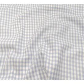 coupon coton vichy 4mm bleu ciel