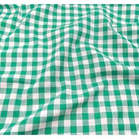 coupon coton vichy 10mm vert