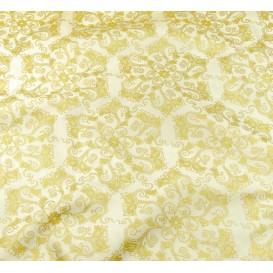 tissu noël écru arabesque doré largeur 150cm x 50cm