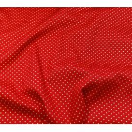 tissu noël rouge pois doré 2mm largeur 150cm x 50cm