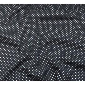 tissu noël marine pois argenté 2mm largeur 150cm x 50cm
