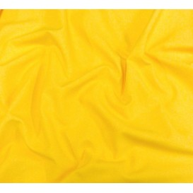 coupon popeline uni jaune laize 140cm