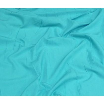 coupon popeline uni turquoise