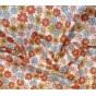 tissu popeline fleurs rouges largeur 145cm au mètre