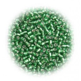 perles de verre tranparent vert 15 gr