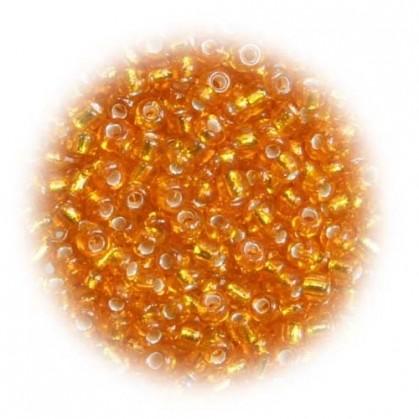 perles de verre tranparent orange 15 gr