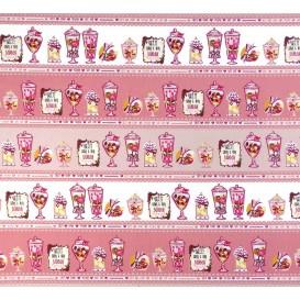 tissu popeline rose bonbons largeur 145cm x 50cm