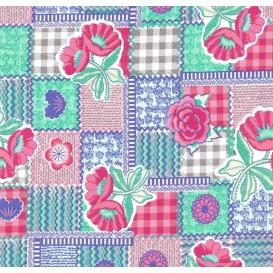 tissu popeline style patchwork largeur 145cm x 50cm