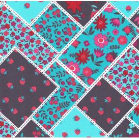 tissu popeline style patchwork largeur 145cm x 50cm n°2