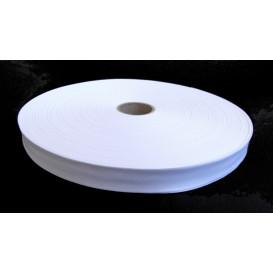 biais uni 20mm blanc à la bobine de 100m