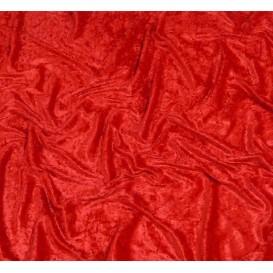 coupon panne de velours rouge