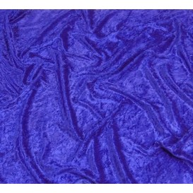 coupon panne de velours bleu roi