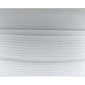 coupon 3m élastique tissé maille blanc 5mm