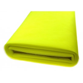 tulle uni jaune fluo au mètre