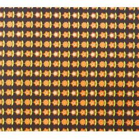 coupon stenzo popeline marron à fleurs n°2