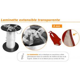 laminette extensible transparente 8mm au mètre