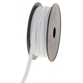 coupon 3m élastique tresse plate blanc 7mm