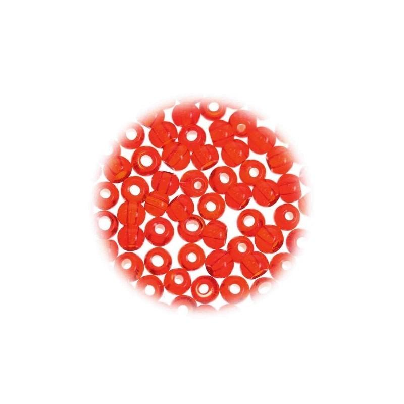 perles de verre translucide rouge 5mm. Black Bedroom Furniture Sets. Home Design Ideas