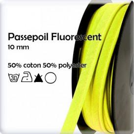 passepoil jaune fluorescent 10mm au mètre