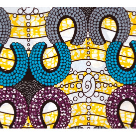 tissu africain wax tentacule largeur 113cm x 50cm