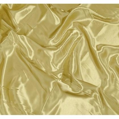 tissu satin vieil or largeur 140cm x 50cm