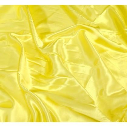 tissu satin jaune flash largeur 140cm au mètre