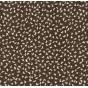 tissu voile polyester noir fleurs largeur 150cm x 50cm