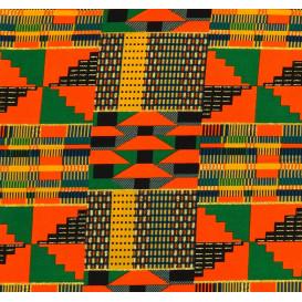 tissu africain wax brillant formes multicolore largeur 113cm x 50cm n°3
