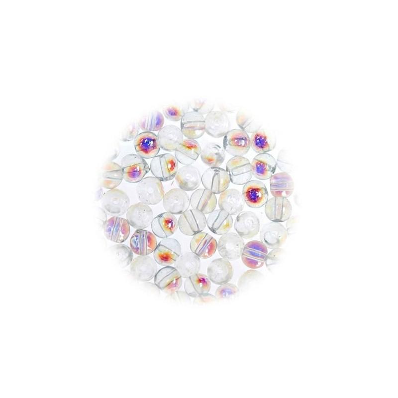perles de verre translucide aurore 3mm. Black Bedroom Furniture Sets. Home Design Ideas