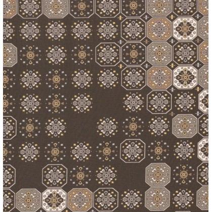 tissu voile polyester noir carrés largeur 140cm x 50cm