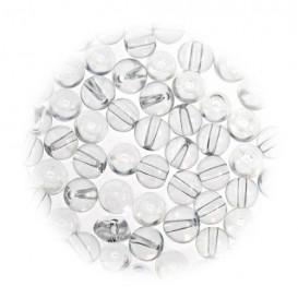 perles de verre translucide 4mm