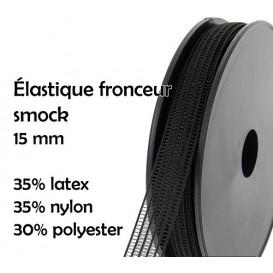 coupon 3m élastique fronceur smock 15mm