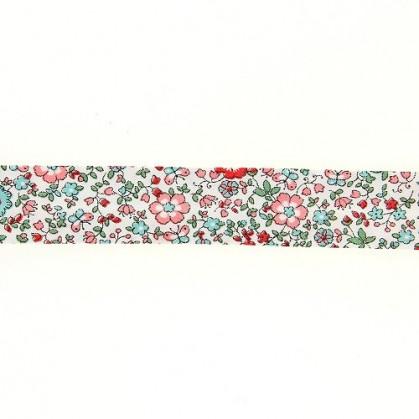 coupon 3m biais liberty fleurs 20mm