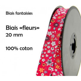 coupon 3m biais fleurs 20mm (2 coloris)
