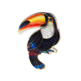 écusson toucan thermocollant