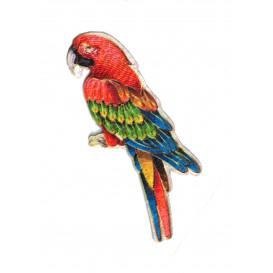 écusson perroquet thermocollant