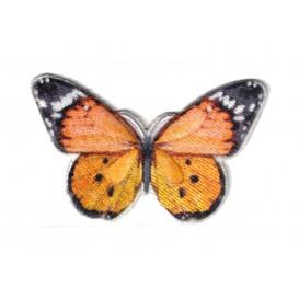 écusson papillon orange thermocollant