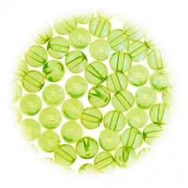 perles de verre translucide vert 3mm