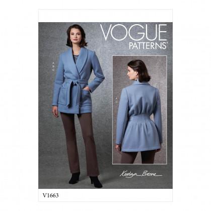 patron veste, haut, pantalon Vogue V1663