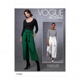 patron pantalon et ceinture Vogue V1662