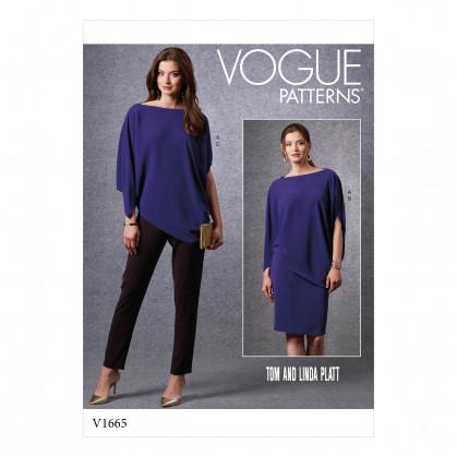 patron vêtements de sport Vogue V1665