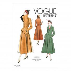 patron vêtement de dessus Vogue V1669
