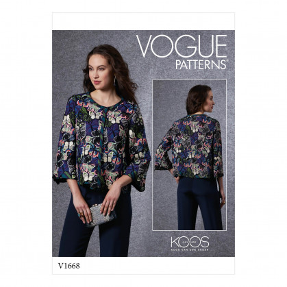 patron veste ajustée, doublée Vogue V1668