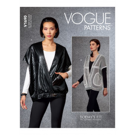 patron gilet Vogue V1690