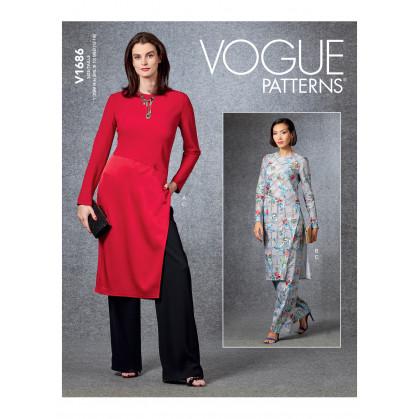patron tunique et pantalon Vogue V1686