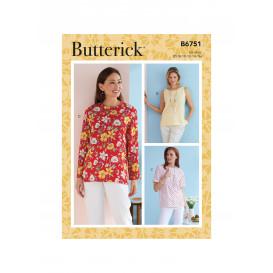 patron haut Butterick B6751
