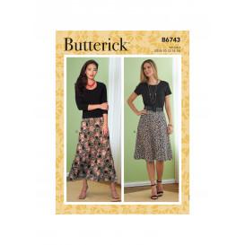 patron jupe Butterick B6743