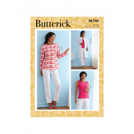 patron veste, manteau, haut Butterick B6740