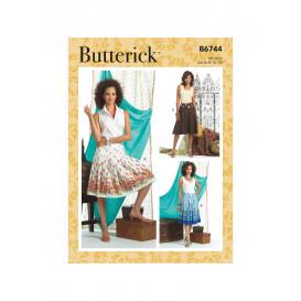 patron jupe Butterick B6744