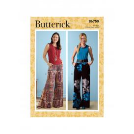 patron short et pantalon Butterick B6750